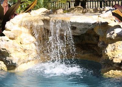 Natural Rock Waterfall